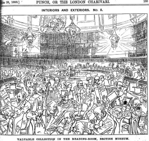 Punch Magazine 1885 - Bristish Museum Reading Room