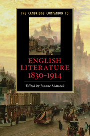 The Cambridge Companion to English Literature, 1830-1914, edited by Joanne Shattock